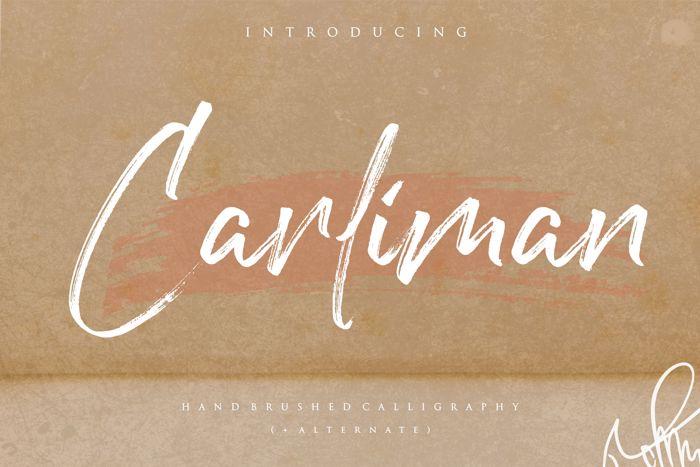 Carliman Font poster
