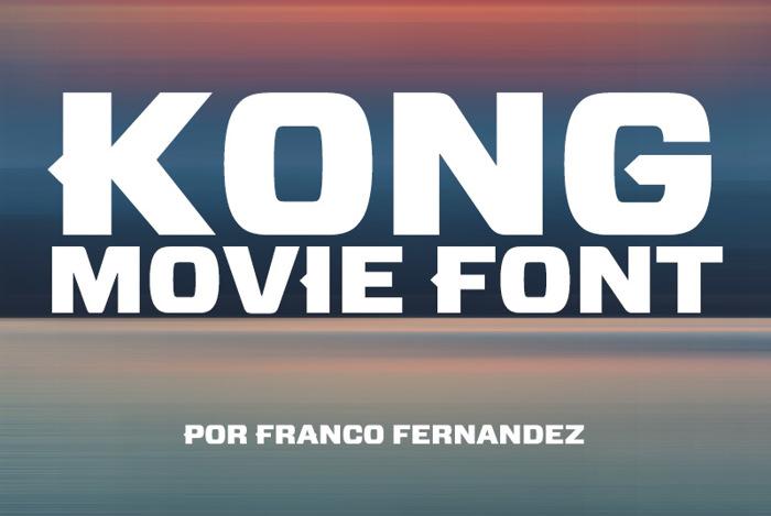 Kong Font poster