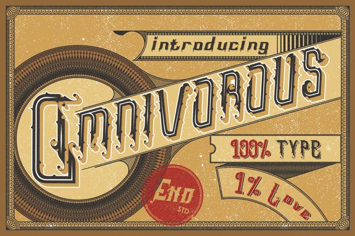 Omnivorous Regular 02 Font poster