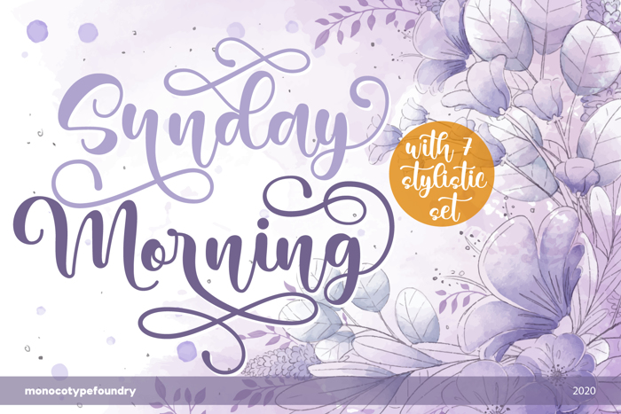 Sunday Morning - Multi Swash Font poster