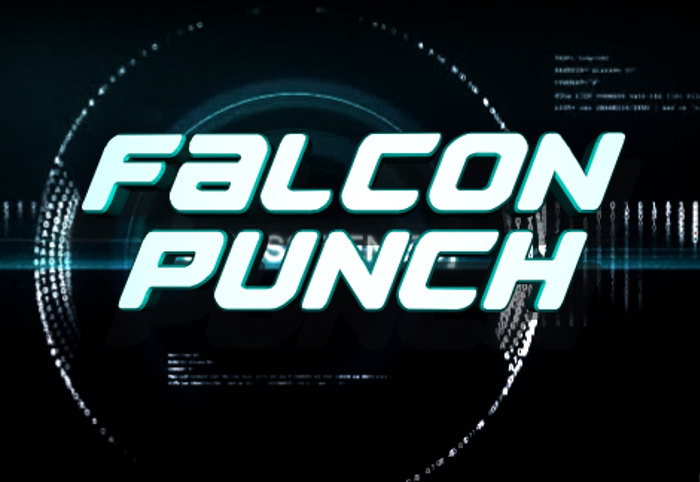 Falcon Punch Font poster