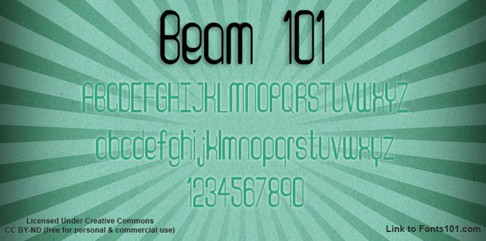 Beam 101 Font poster