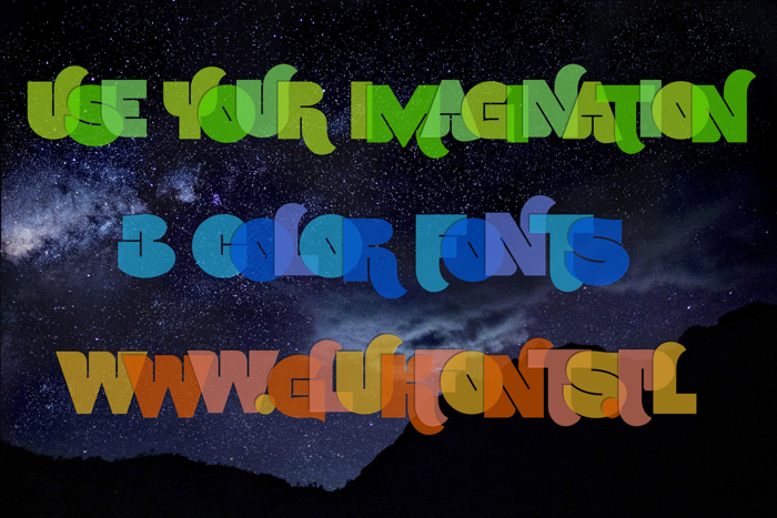 Use Your Imagination Font poster