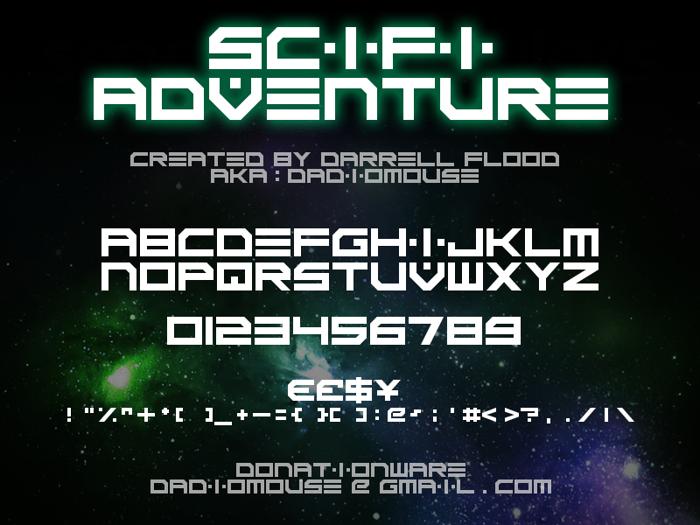 Scifi Adventure Font poster
