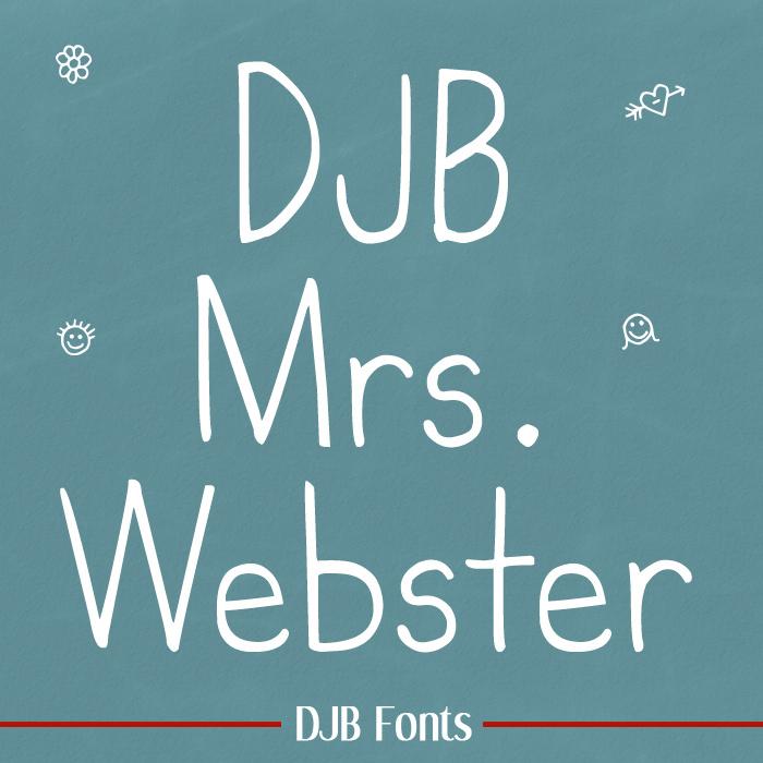 DJB MrsWebster Font poster
