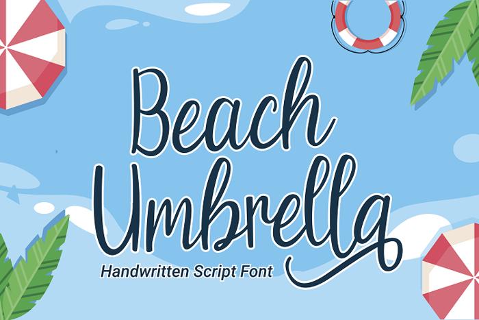 Beach Umbrella Font poster