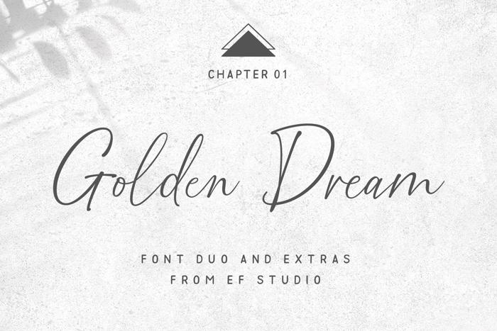 Golden Dream Font poster
