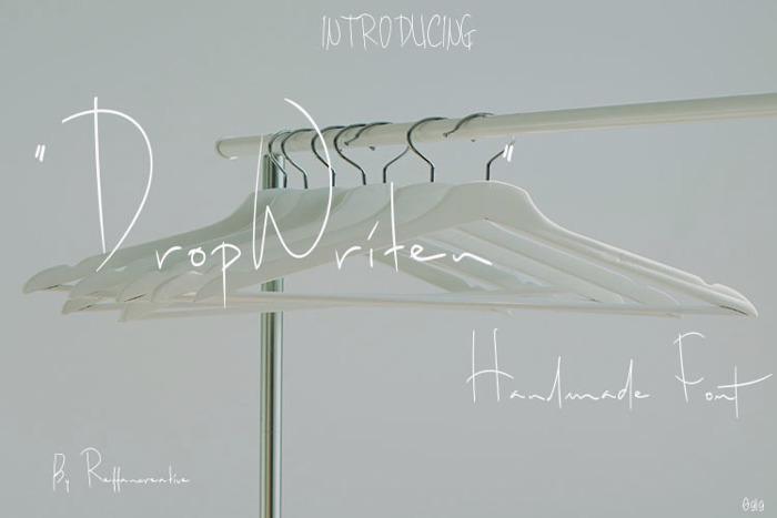 DropWriten Font poster