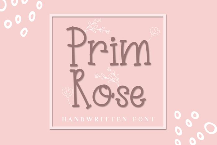 Primrose Font poster