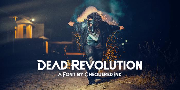 Dead Revolution Font poster