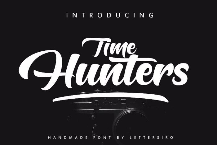 Hunters Script Font poster