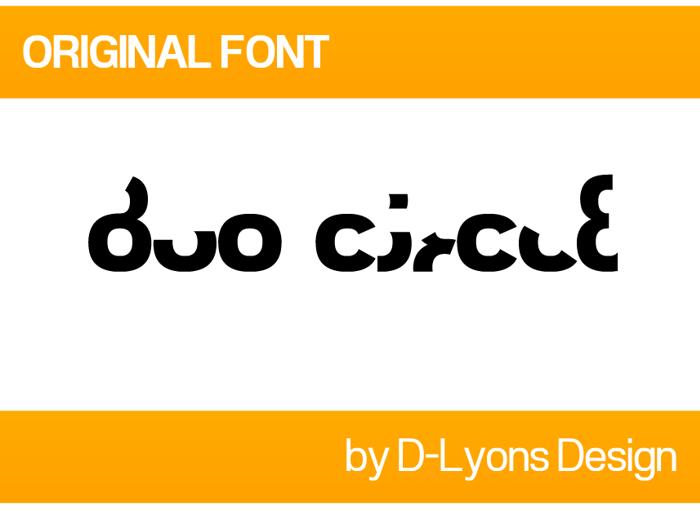 Duo Circle Font poster