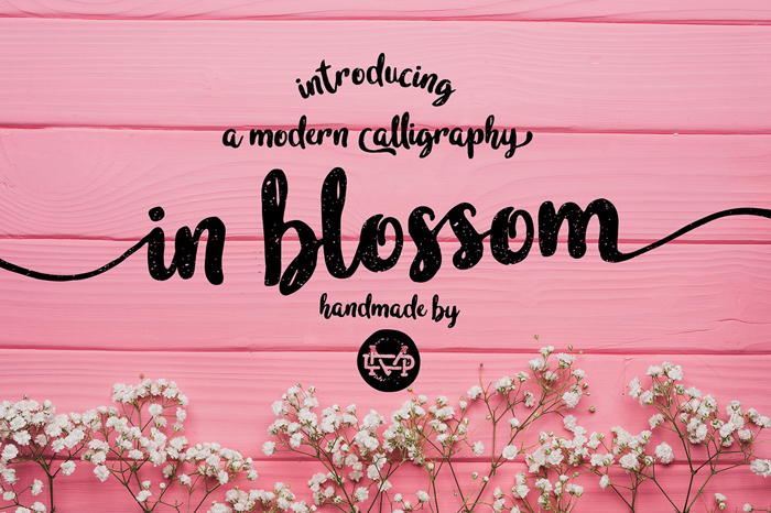 in blossom Font poster