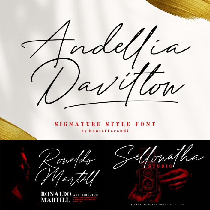 Andellia Davilton Font poster