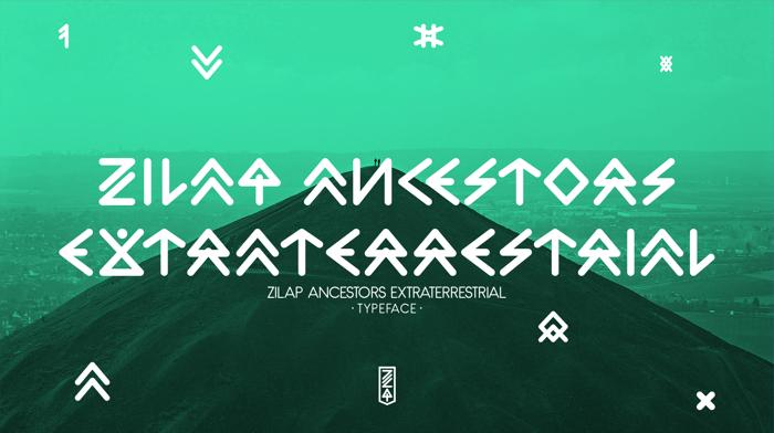 Zilap Extraterrestrial Acestors Font poster
