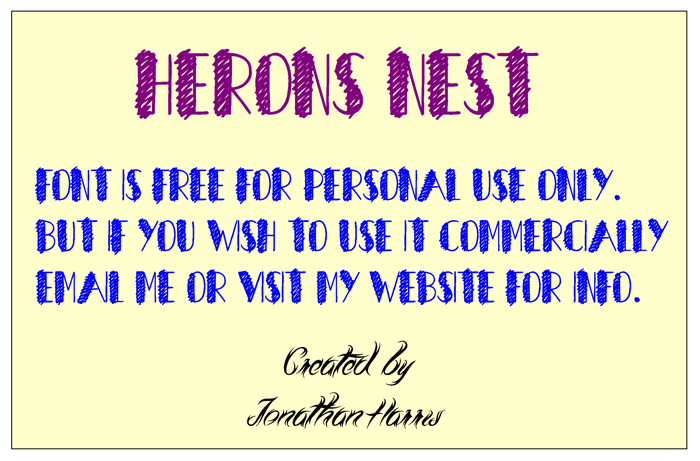 Herons Nest Font poster