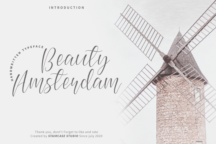 Beauty Amsterdam Font poster