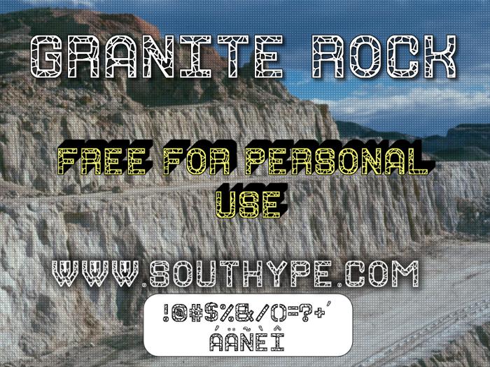 Granite Rock St Font poster