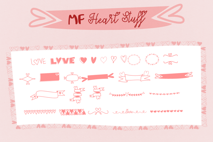 MF Heart Stuff Font