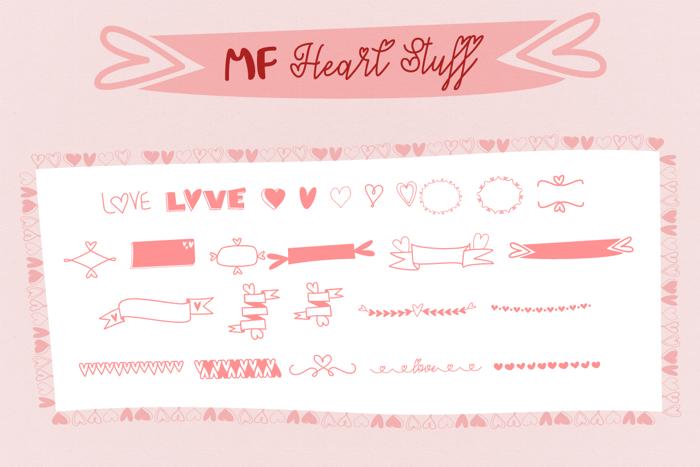 MF Heart Stuff Font poster