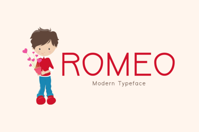 Romeo Font poster