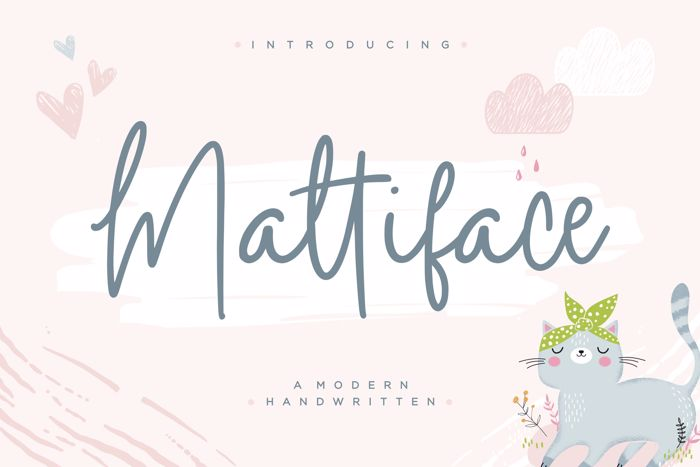 mattiface Font poster