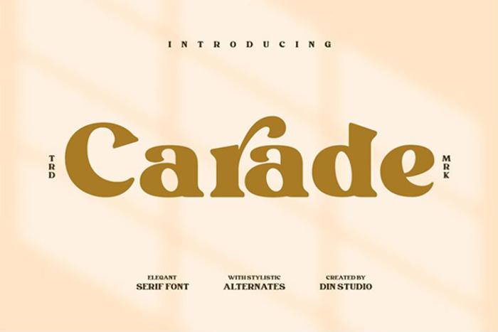 Carade Font poster