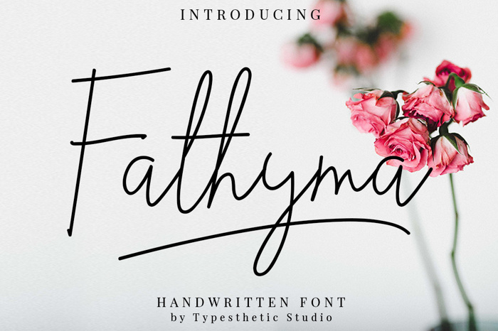 Fathyma Font poster
