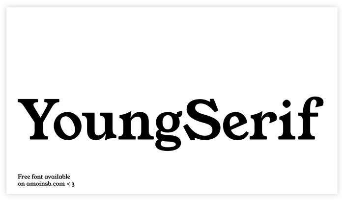 YoungSerif Font poster