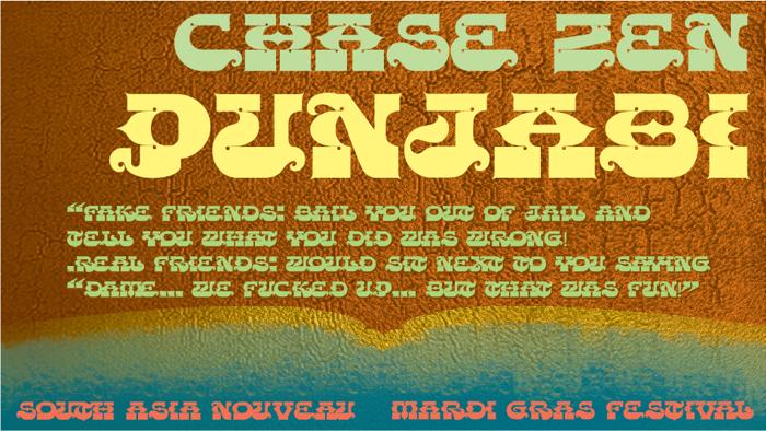 CHASE ZEN PUNJABI Font poster
