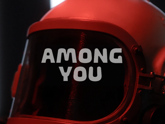 a Among You Font poster