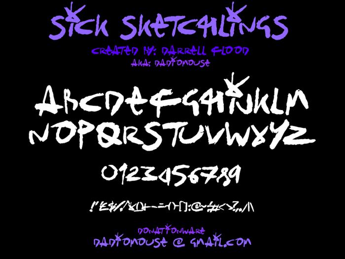 Sick Sketchlings Font poster