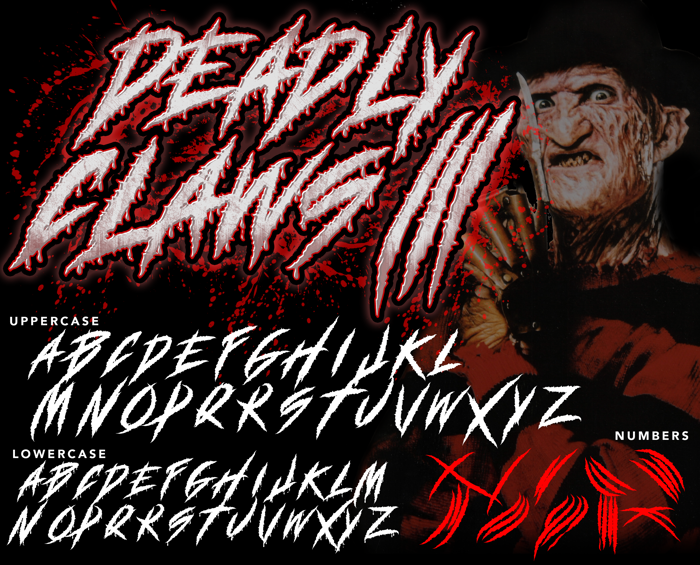 DEADLY CLAWS[ Font