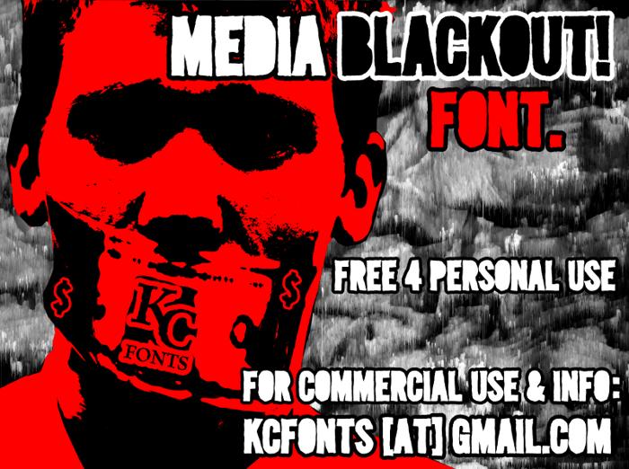 Media Blackout Font poster