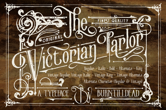 Victorian Parlor  Font poster