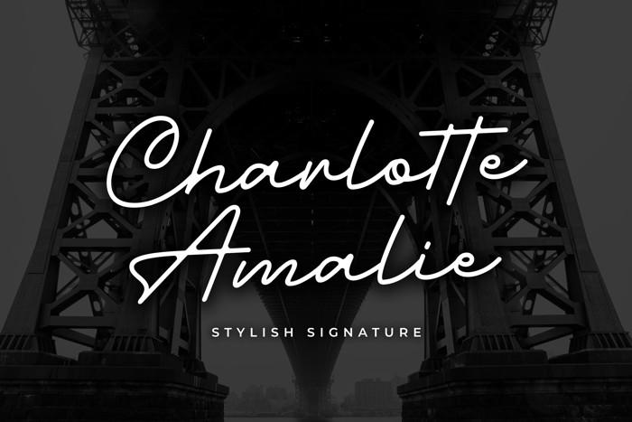 Charlotte Amalie Font poster