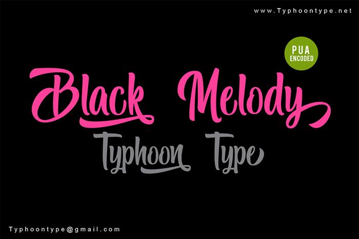 Black Melody Font poster