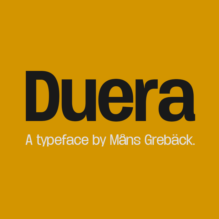 Duera Font poster