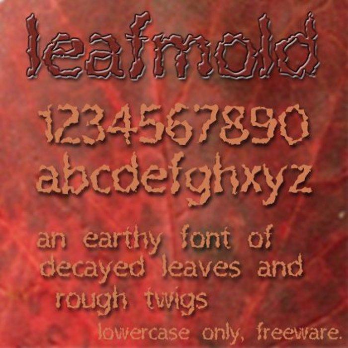 Leafmold Font poster