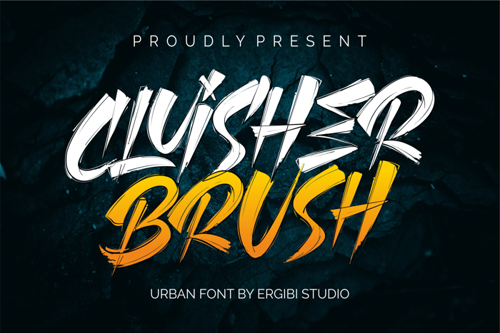 CLUISHER BRUSH Font poster