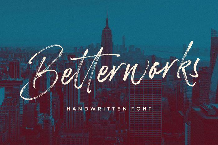 Betterworks Font poster