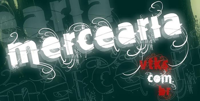 Vtks Mercearia Font poster