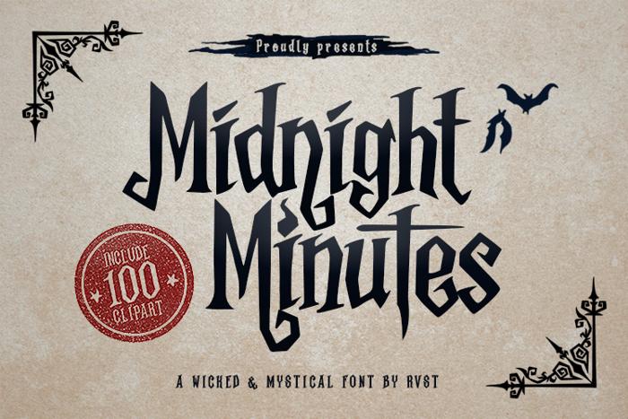 MidnightMinutes Font poster