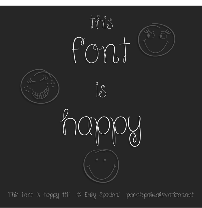 Because I am Happy Font poster