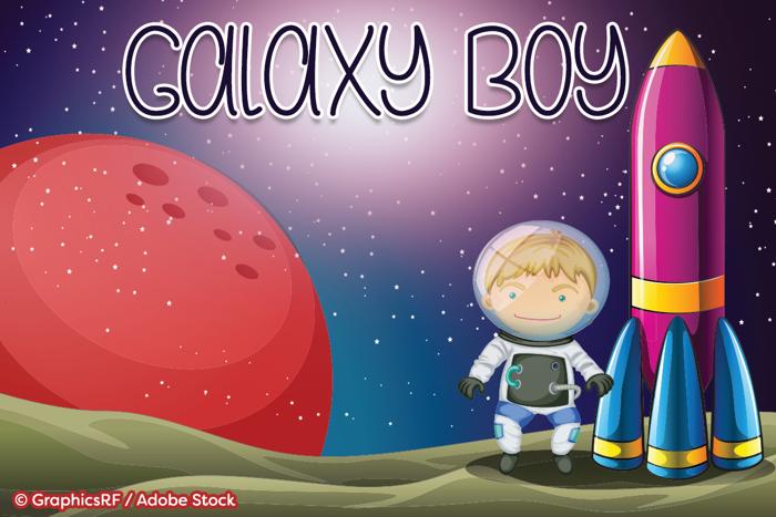 Galaxy Boy Font poster