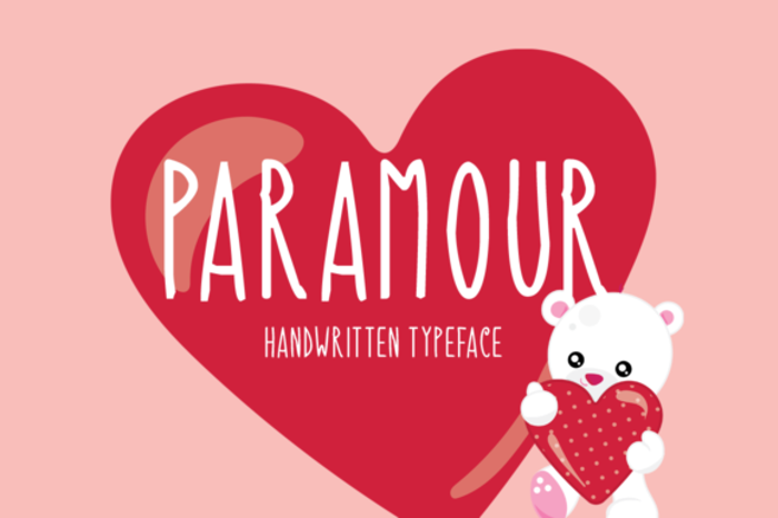 Paramour Font poster