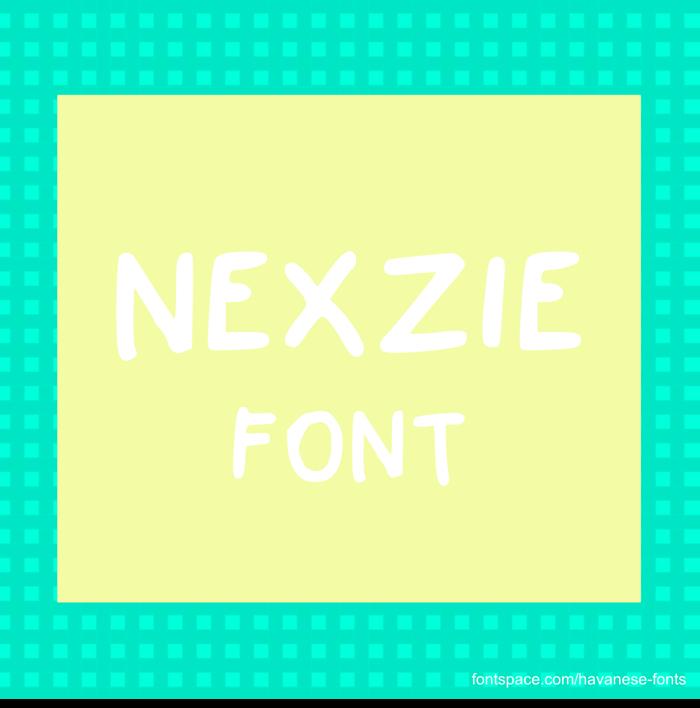 Nexzie Font