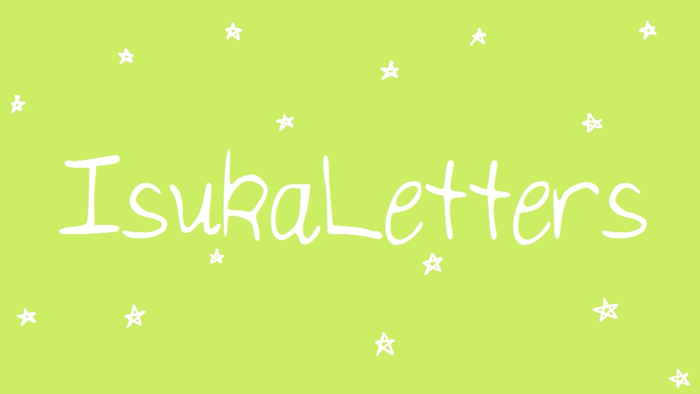IsukaLetters Font poster