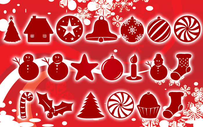 Christmas Shapes Font poster