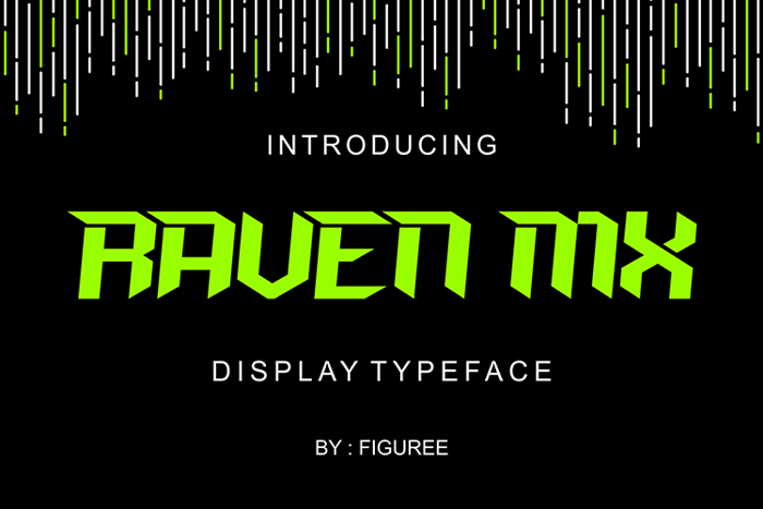 RAVEN MXI Font